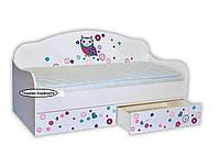 Кроватка диванчик Сова цветная