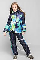Зимний комбинезон для девочки с курткой Украина