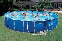 Каркасный бассейн Intex -интекс 54950  (732 х 132 см) + песочный фильтрующий насос с хлоргенератором киев