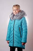 Детская зимняя куртка для девочки Голубая Звезда