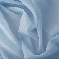 Ткань шифон вуаль креш голубая
