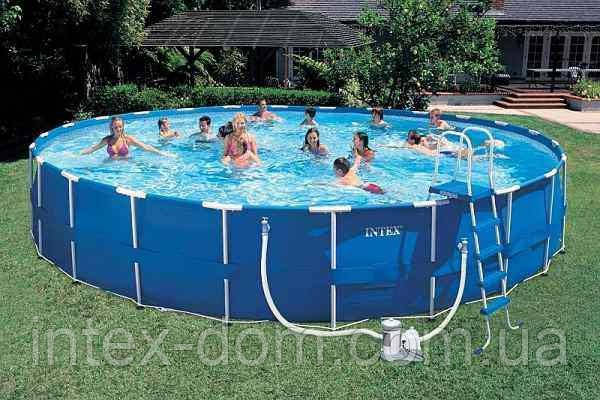 Каркасный бассейн Intex-интекс  57966 Metal Frame Pool (732 х 132 см) + фильтрующий насос + аксессуары киев