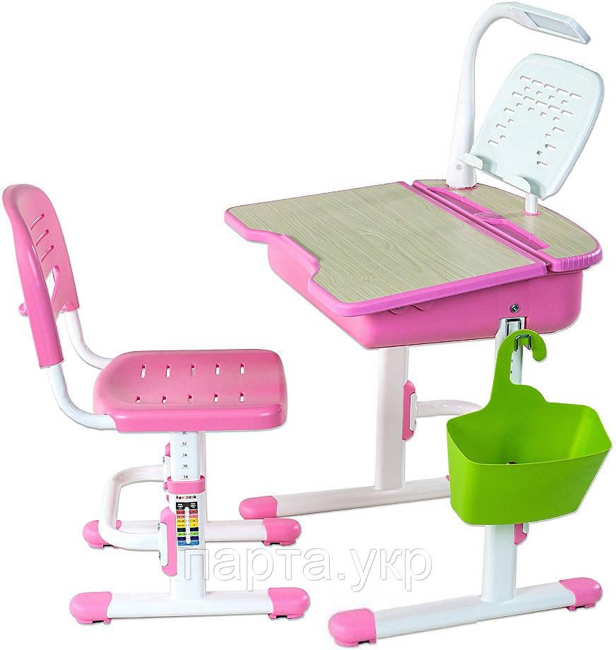 Парта с ящиком и стул  Capri II  + лампа + подставка, 2 цвета