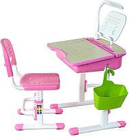 Парта с ящиком и стул  Capri II,  + лампа + подставка, 2 цвета, фото 1