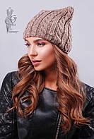 Вязаные женские шапки Кэти-4 нить шерсть-акрил
