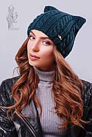 Вязаные женские шапки Кэти-7 нить шерсть-акрил