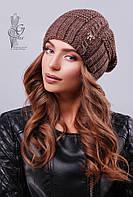 Вязаные женские шапки Снежка-1 нить шерсть-акрил