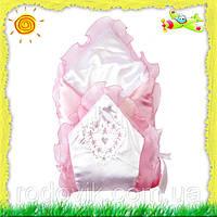 Детский конверт на выписку для новорожденной