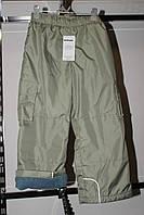 Детские штаны утепленные Оливковый. Размер 98 - 104 см
