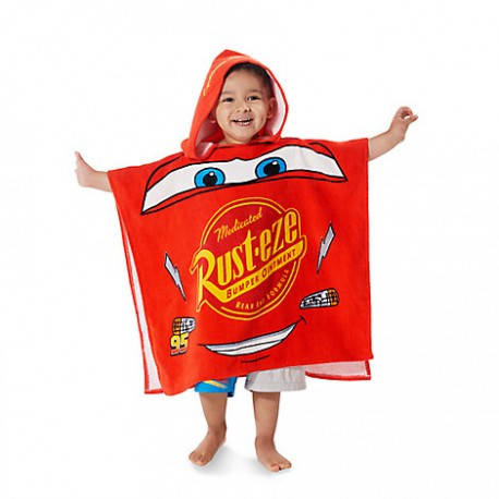 Детское полотенце с капюшоном (пончо) Молния Маквин, Тачки, Disney (США)