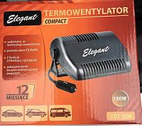 Керамический тепловентилятор 12V Elegant 101508 компакт 150W обогрев/обдув, кабель 1,5м