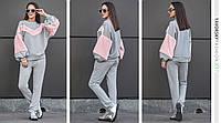 """Костюм Yavorsky женский стильный с меховыми вставками и люрексом свитшот и брюки """"Фиерия"""" 3 цвета DY690"""