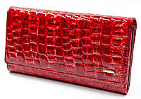 2002f28ae08e Оригинал! Фактурный лаковый женский кошелек в красном цвете Helen Verde  (Хелен Верде) 2487R