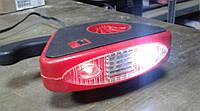Тепловентилятор керамический с фонарем 12V Elegant 101507, 150 W обогрев/обдув/ручка, шнур 1,5 м