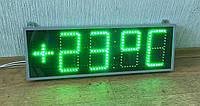 Электронные часы, календарь. Настенные часы-термометр яркие зеленого цвета