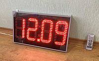 Светодиодные яркие уличные часы, размером 600х350ммм