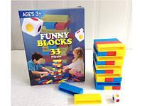Настольная игра Дженга с кубиком, Джанга, Jenga башня