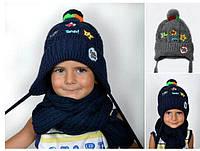 Детская утеплённая шапка на флисе 2-3 года