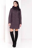 Шерстяное пальто СПЛИТ 3359 шоколад Мodus 44-48 размеры