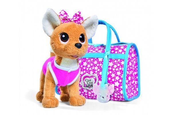 Собачка Chi Chi Love Чи Чи Лав Fasion Star Фэшн Звезда сумка, подвеска и бант светится в темноте
