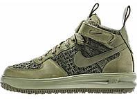 Мужские кроссовки Мужские кроссовки Nike Lunar Force 1 Flyknit Workboot Olive Найк Лунар Форсы