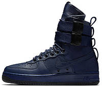 Мужские кроссовки Nike Special Field Air Force 1 Найк Аир Форс высокие синие