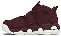 Мужские кроссовки Nike Air More Uptempo Bordeaux Найк бордовые