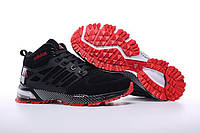 Кроссовки Adidas Neo Winter Black/Red с мехом