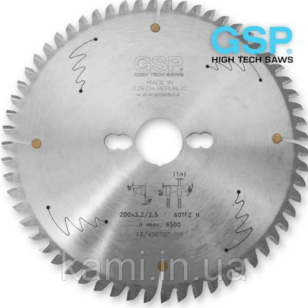 Пилы дисковые GSP для резки ПВХ штапика с HW напайкой
