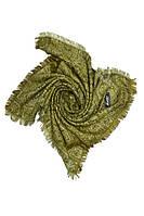 Красивый платок из натуральной ткани с бахрамой