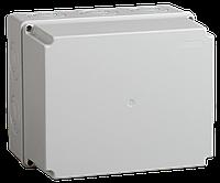 Коробка КМ41274 распаячная для о/п 240х195х165 мм IP55 (RAL7035, кабельные вводы 5 шт)