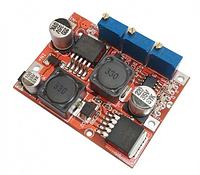 Понижающий-повышающий импульсный стабилизатор напряжения и тока LM2596/LM2577 регулируемый