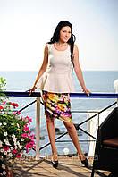 Женский костюм на лето. Лён. (46,48,50)
