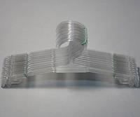 Плечики вешалки пластмассовые для нижнего белья Marc-Th WBO-6PS прозрачные, 27 см, 10 штук в упаковке