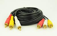 Аудио-кабель 3RCA 10м dl