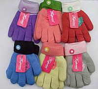 Детские шерстяные двойные перчатки с начесом КОРОНА 14см