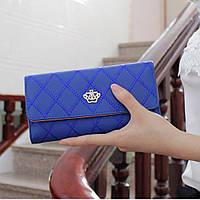 Модный женский кошелек синего цвета LANJINJUE