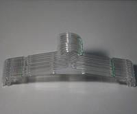 Плечики вешалки пластмассовые для нижнего белья Marc-Th WBO-7PS прозрачные, 32 см, 10 штук в упаковке