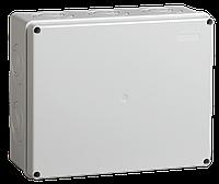 Коробка КМ41342 распаячная для о/п 240х195х90 мм IP55 (RAL7035, монт. плата, кабельные вводы 5 шт)