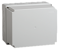 Коробка КМ41344 распаячная для о/п 240х195х165 мм IP55 (RAL7035, монт. плата, кабельные вводы 5 шт)