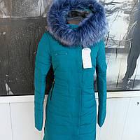 Зимняя молодежная женская куртка в стиле футляр