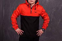Черно-оранжевый мужской анорак Nike President (куртка, ветровка) есть ОПТ