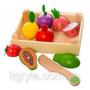 Деревянные овощи разрезанные на магнитах