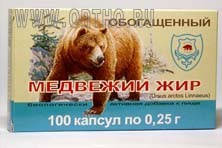 Медвежий жир обогащённый 100 капс.