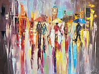 «Яркие краски дождя» картина маслом