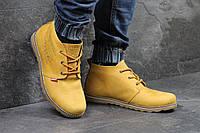 Мужские ботинки полуботинки Levis (рыжие), ТОП-реплика, фото 1