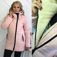 Зимняя женская куртка Поларис пудра, куртки женские