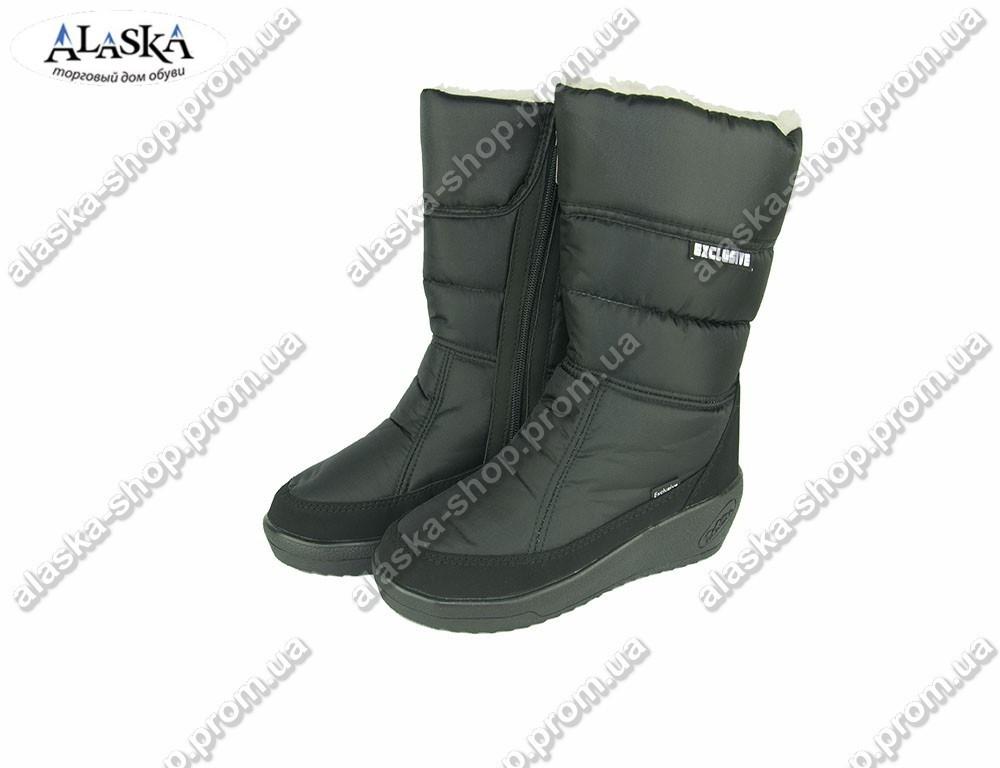 Женские дутики черные (Код: 020-1)