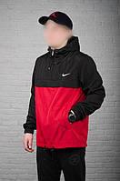 Красно-черный мужской анорак Nike President (куртка, ветровка), фото 1