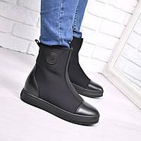 Ботинки женские Teo черные 3736, ботинки женские